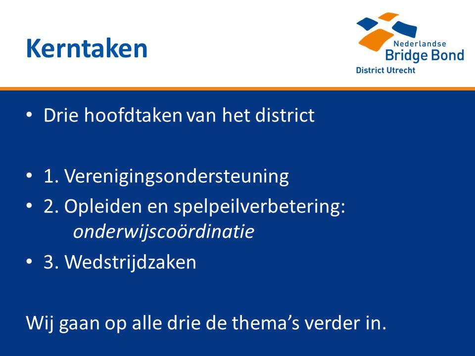 • Drie hoofdtaken van het district • 1. Verenigingsondersteuning • 2.