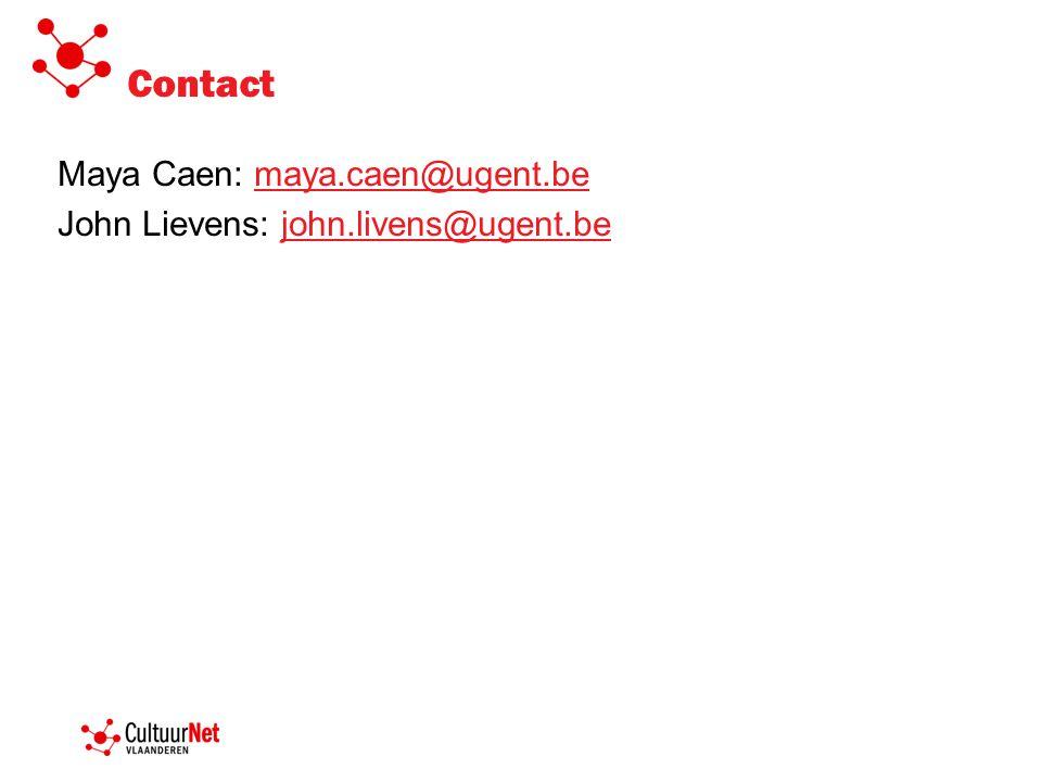 Contact Maya Caen: maya.caen@ugent.bemaya.caen@ugent.be John Lievens: john.livens@ugent.bejohn.livens@ugent.be