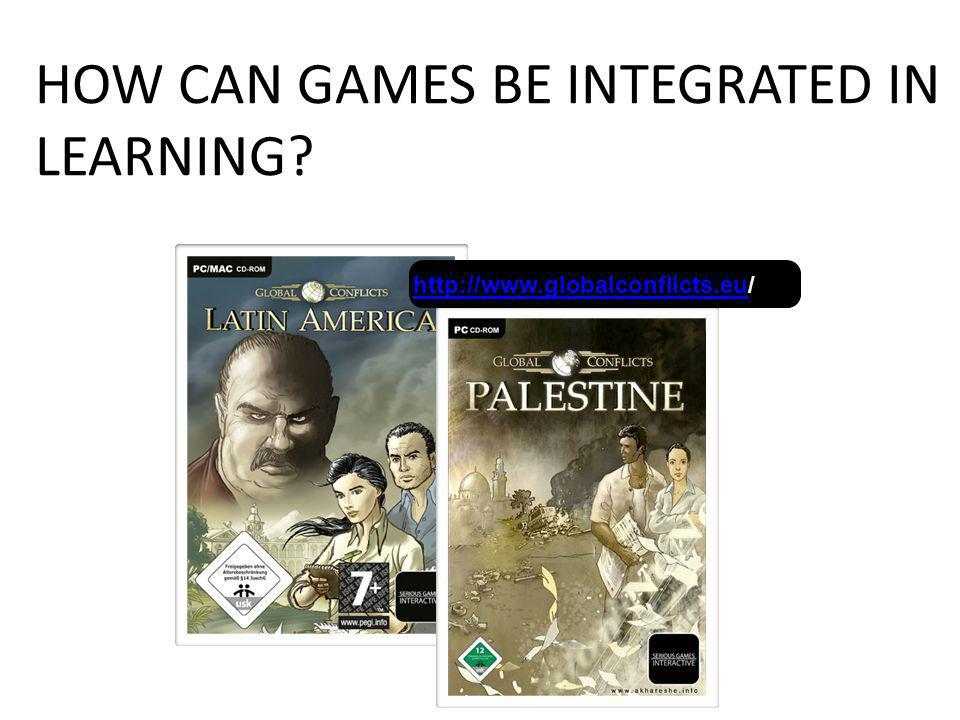HOW CAN GAMES BE INTEGRATED IN LEARNING.