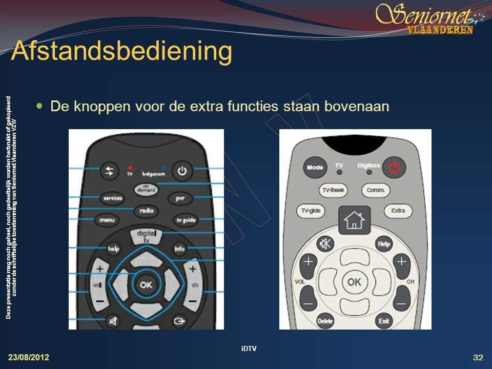 Deze presentatie mag noch geheel, noch gedeeltelijk worden herbruikt of gekopieerd zonder de schriftelijke toestemming van Seniornet Vlaanderen VZW Af