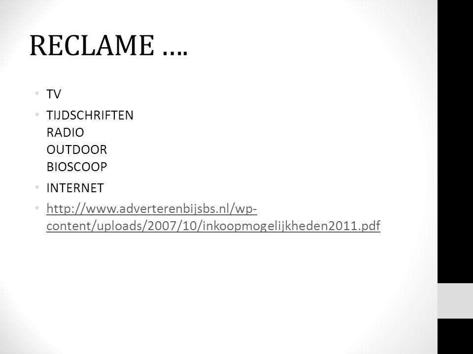 RECLAME ….