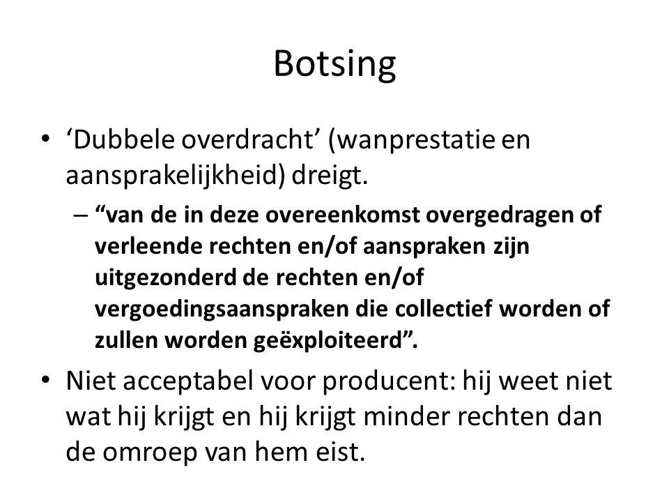 Botsing • 'Dubbele overdracht' (wanprestatie en aansprakelijkheid) dreigt.