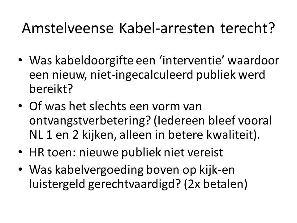 Amstelveense Kabel-arresten terecht.