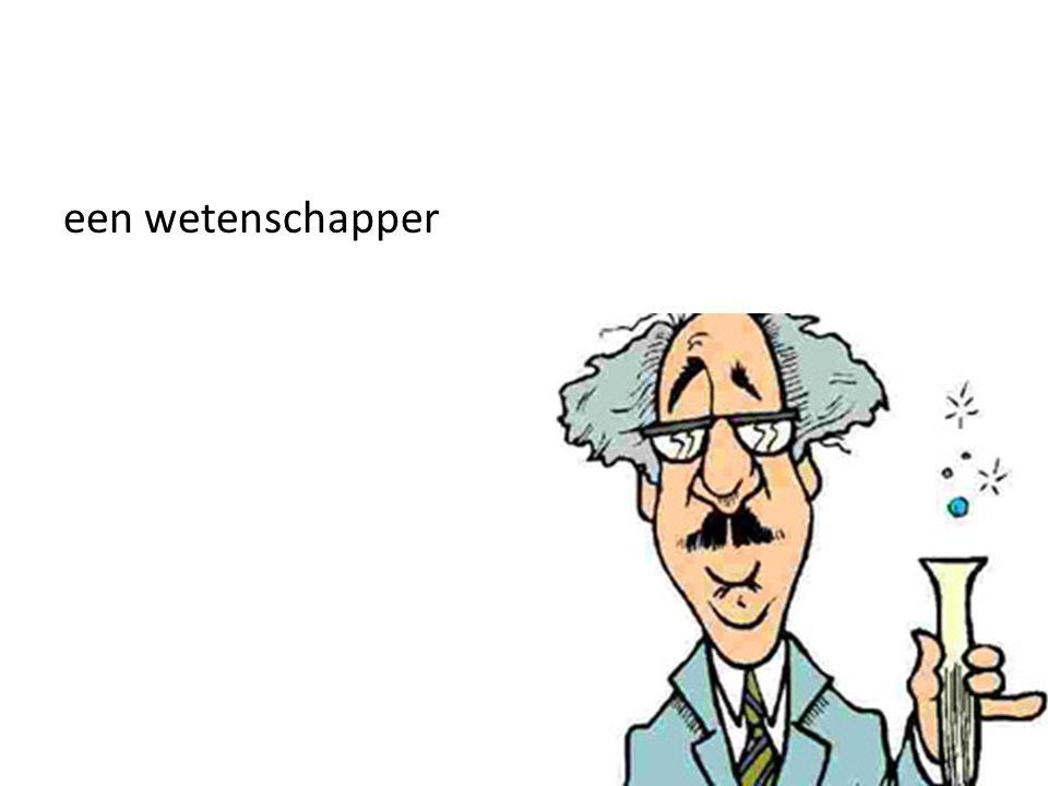 een wetenschapper