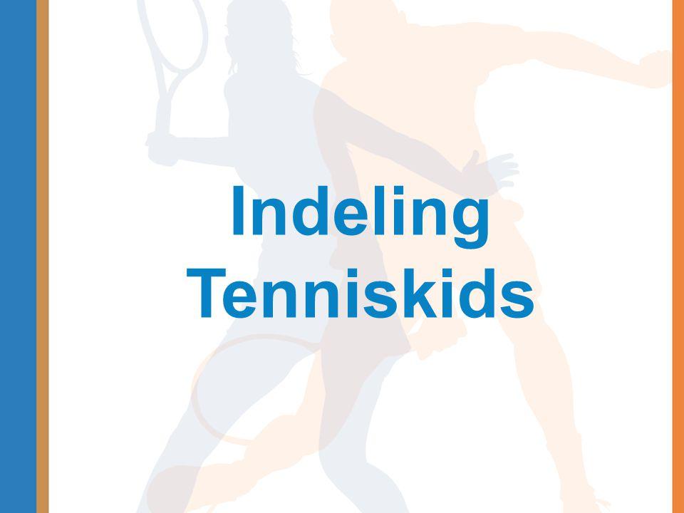 Indeling Tenniskids