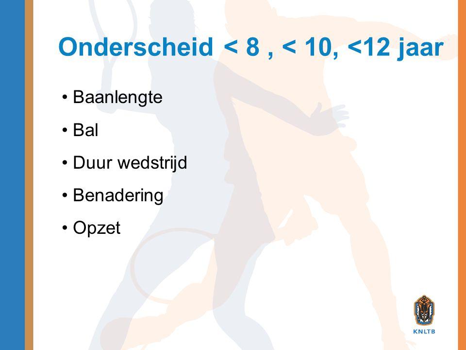 Recreatief toernooi t/m 8 jaar • Baanlengte: mini • Bal: stage 3 (shortex) • Duur partij: ca.
