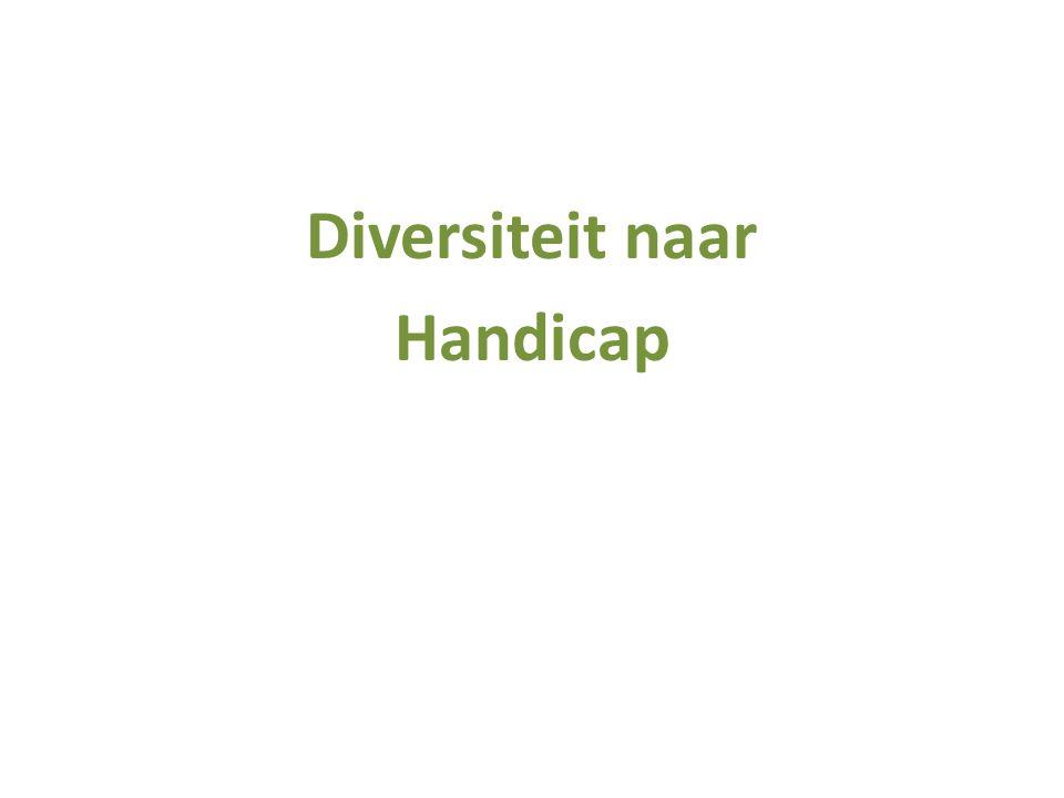 Diversiteit naar Handicap