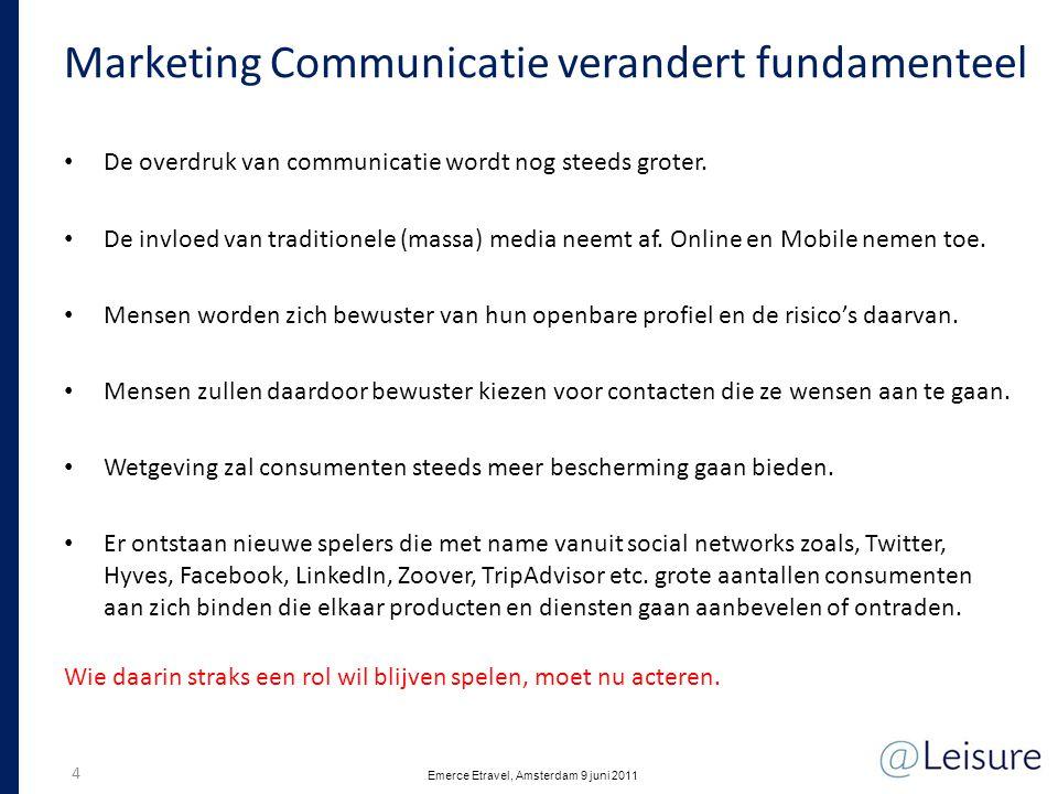 Social media traffic Belvilla Feb 2010 – Apr 2011 15 Emerce Etravel, Amsterdam 9 juni 2011