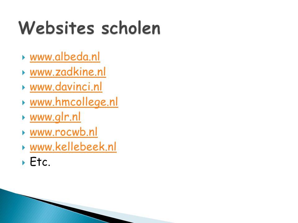  www.albeda.nl www.albeda.nl  www.zadkine.nl www.zadkine.nl  www.davinci.nl www.davinci.nl  www.hmcollege.nl www.hmcollege.nl  www.glr.nl www.glr
