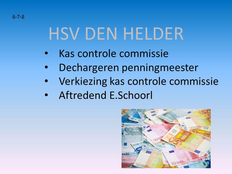 • Kas controle commissie • Dechargeren penningmeester • Verkiezing kas controle commissie • Aftredend E.Schoorl 6-7-8
