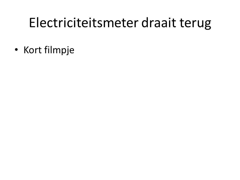 Electriciteitsmeter draait terug • Kort filmpje