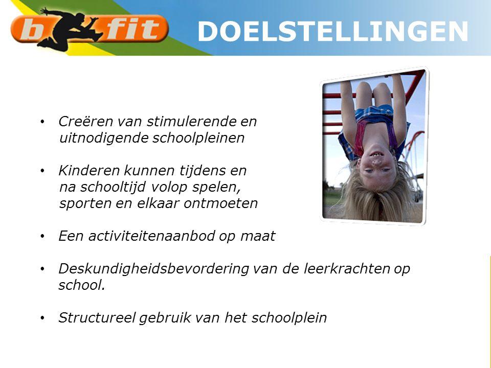 • Creëren van stimulerende en uitnodigende schoolpleinen • Kinderen kunnen tijdens en na schooltijd volop spelen, sporten en elkaar ontmoeten • Een ac