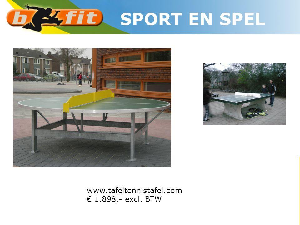 www.tafeltennistafel.com € 1.898,- excl. BTW SPORT EN SPEL