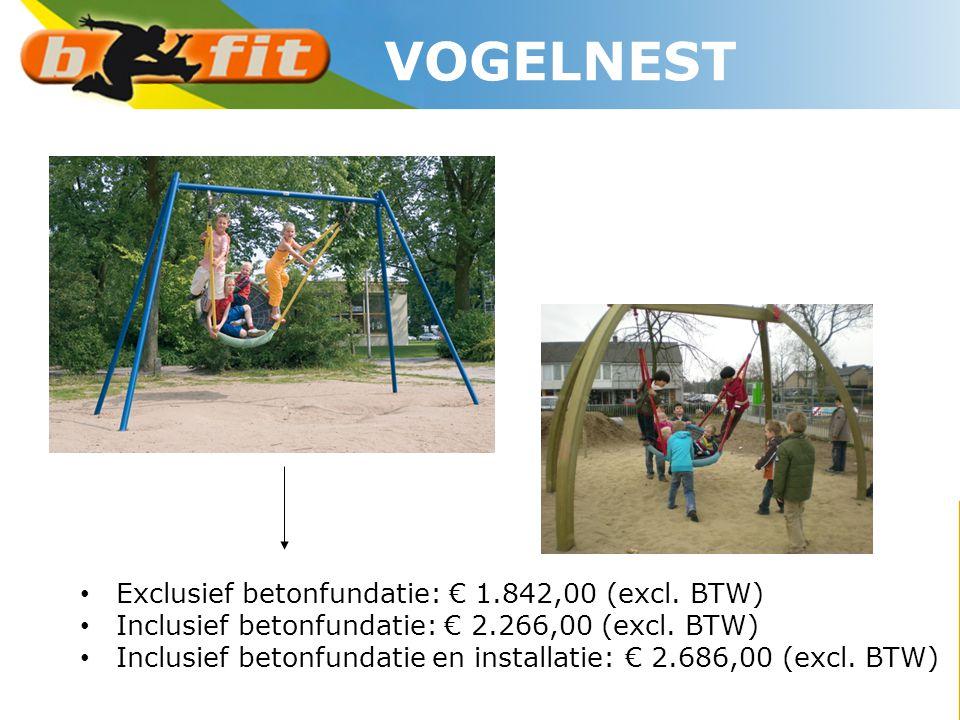 • Exclusief betonfundatie: € 1.842,00 (excl. BTW) • Inclusief betonfundatie: € 2.266,00 (excl. BTW) • Inclusief betonfundatie en installatie: € 2.686,