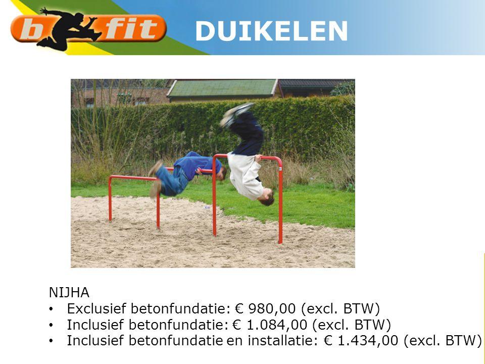 NIJHA • Exclusief betonfundatie: € 980,00 (excl. BTW) • Inclusief betonfundatie: € 1.084,00 (excl. BTW) • Inclusief betonfundatie en installatie: € 1.