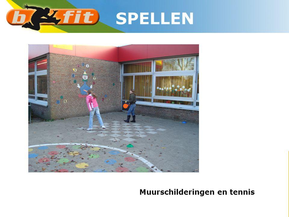 Muurschilderingen en tennis SPELLEN
