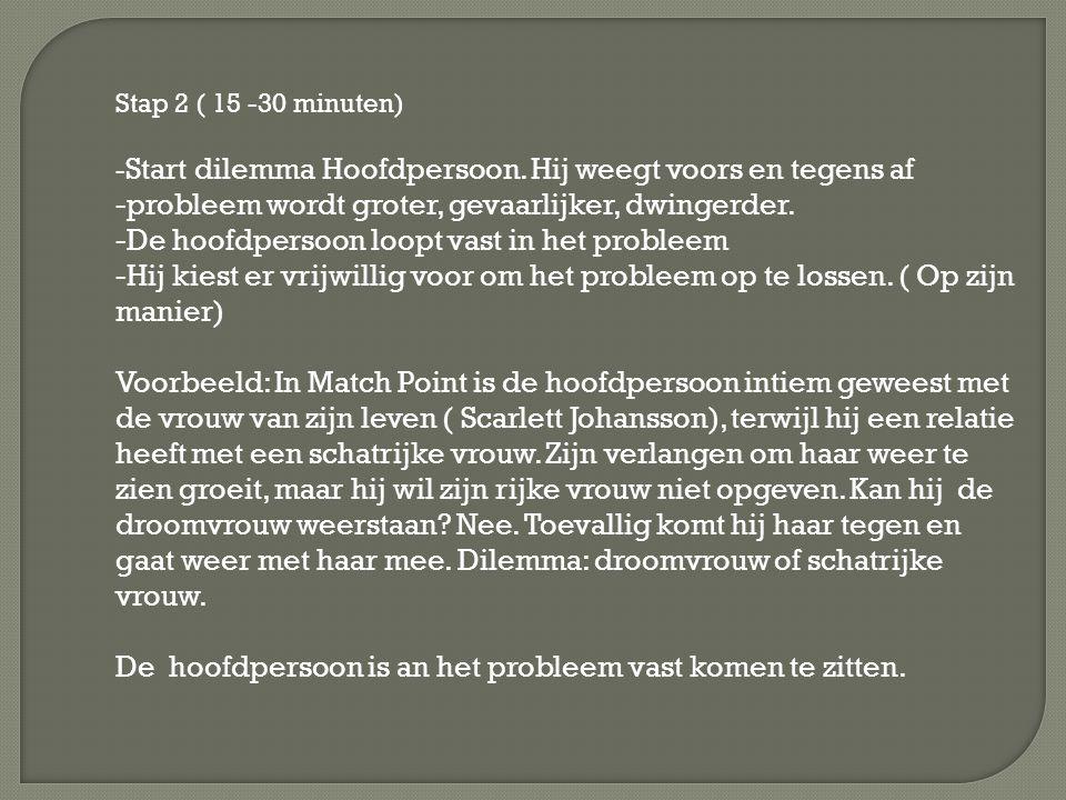 Stap 2 ( 15 -30 minuten) - Start dilemma Hoofdpersoon.