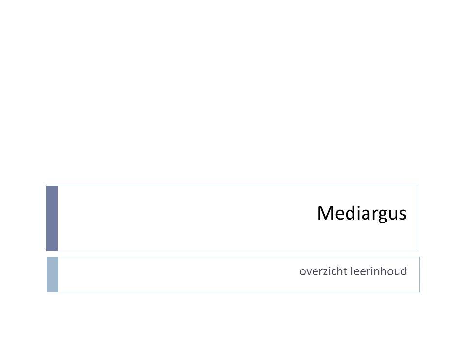 Wat zit er in Mediargus in de bib.