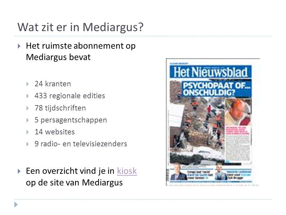Wat zit er in Mediargus.
