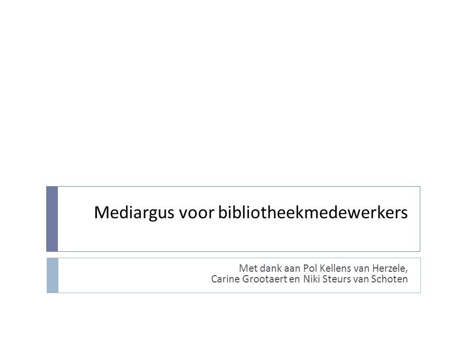 Inhoudstafel  Mediargus, wat moet ik mij daarbij voorstellen.