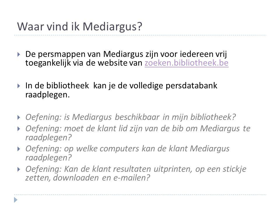 Waar vind ik Mediargus.