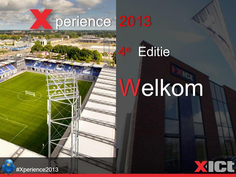 Welkom perience 2013 4 e Editie #Xperience2013