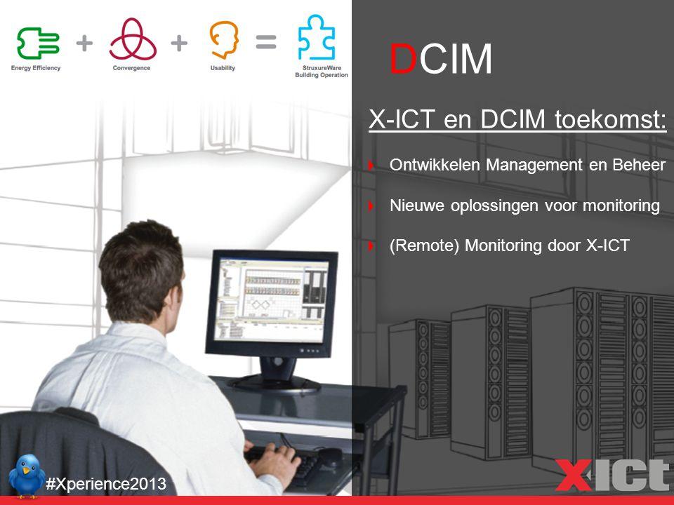 DCIM #Xperience2013 X-ICT en DCIM toekomst: Ontwikkelen Management en Beheer Nieuwe oplossingen voor monitoring (Remote) Monitoring door X-ICT