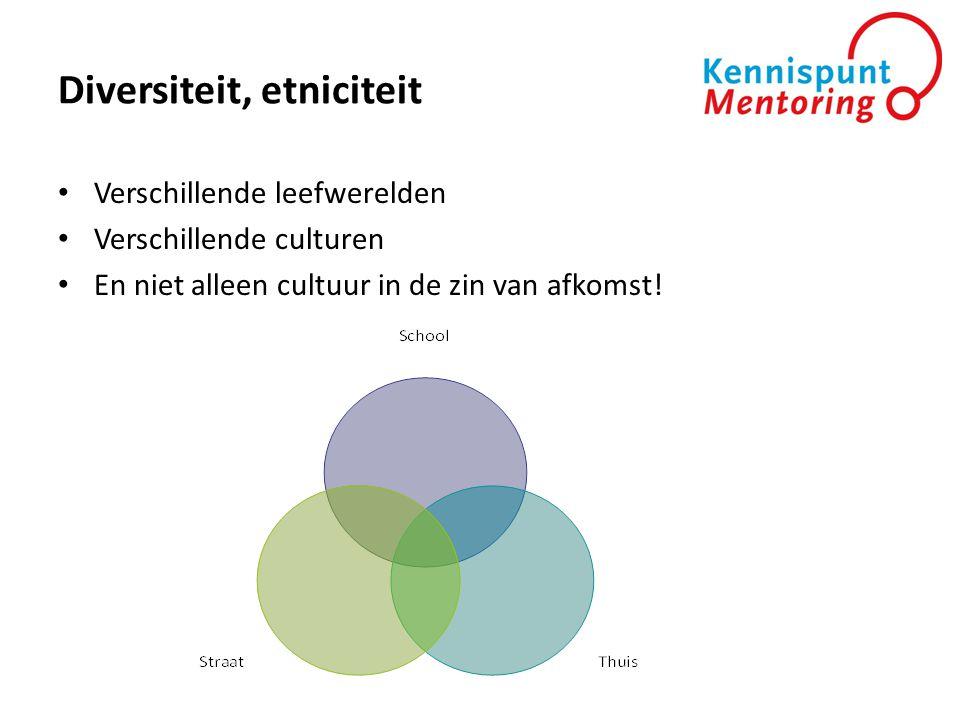 Diversiteit, etniciteit • Verschillende leefwerelden • Verschillende culturen • En niet alleen cultuur in de zin van afkomst!