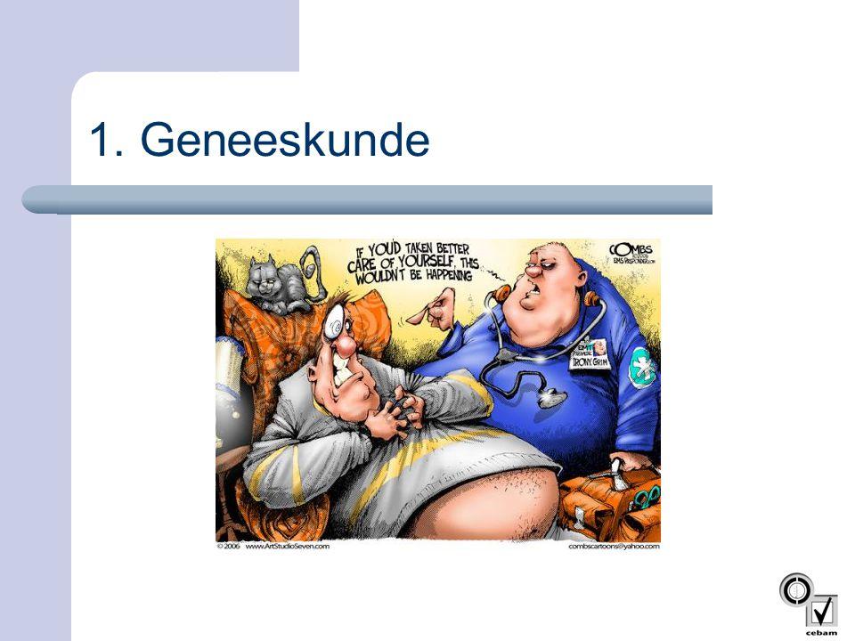 1. Geneeskunde