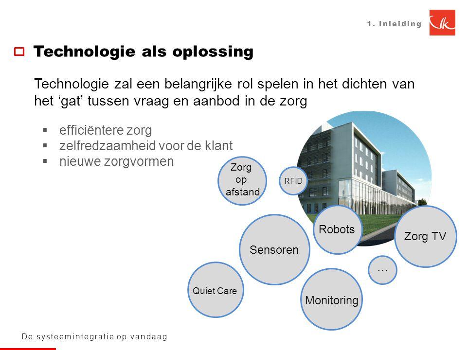 1. Inleiding Technologie als oplossing De systeemintegratie op vandaag Technologie zal een belangrijke rol spelen in het dichten van het 'gat' tussen