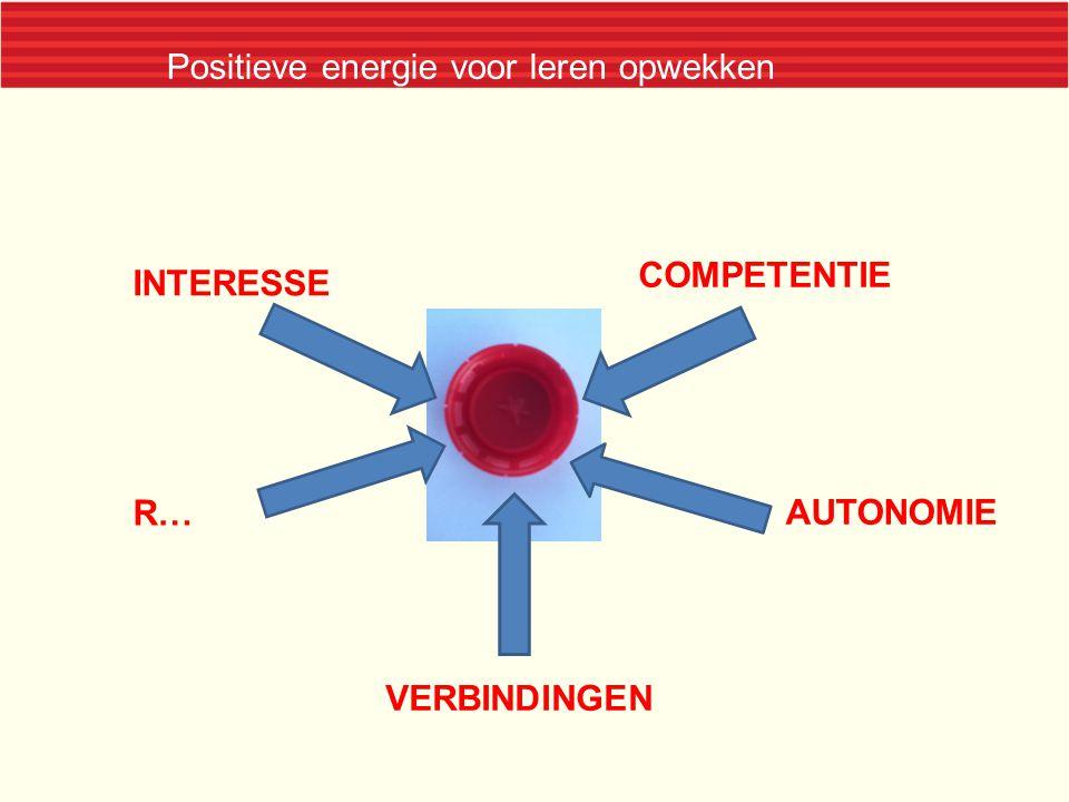 INTERESSE COMPETENTIE VERBINDINGEN R… AUTONOMIE Positieve energie voor leren opwekken