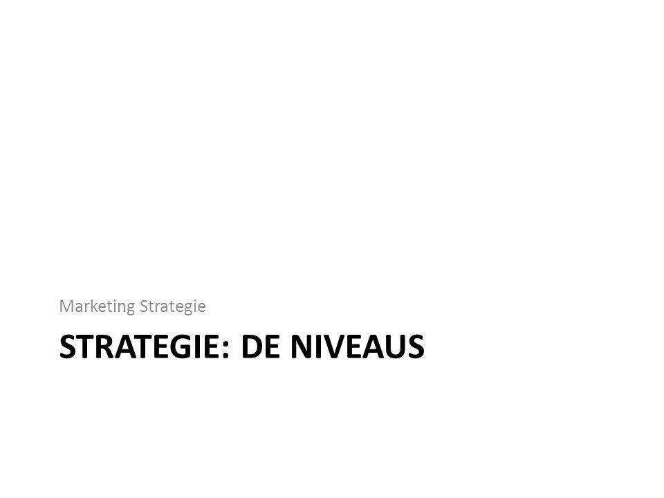 STRATEGIE: DE NIVEAUS Marketing Strategie