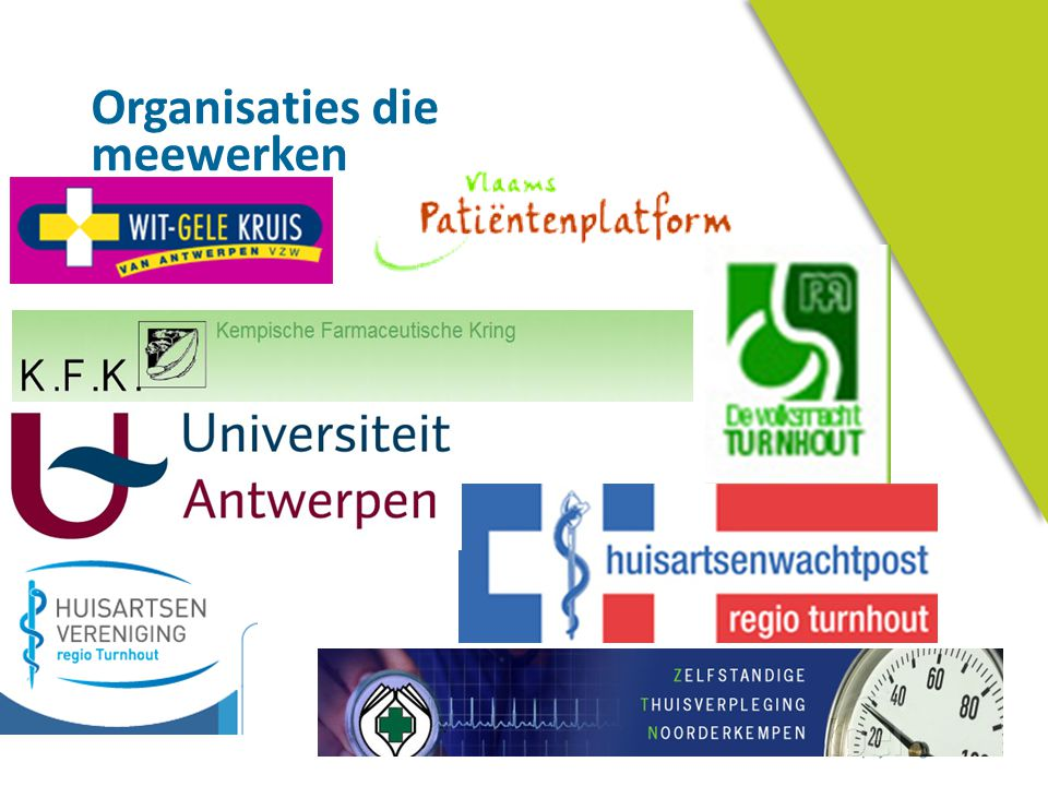Organisaties die meewerken
