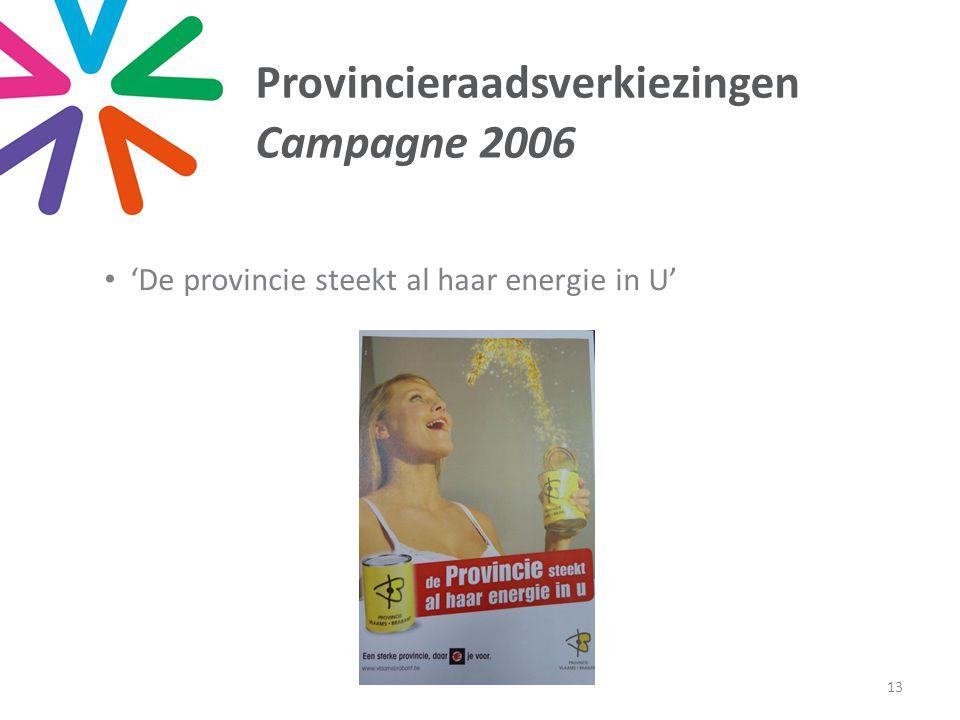 Provincieraadsverkiezingen Campagne 2006 • 'De provincie steekt al haar energie in U' 13