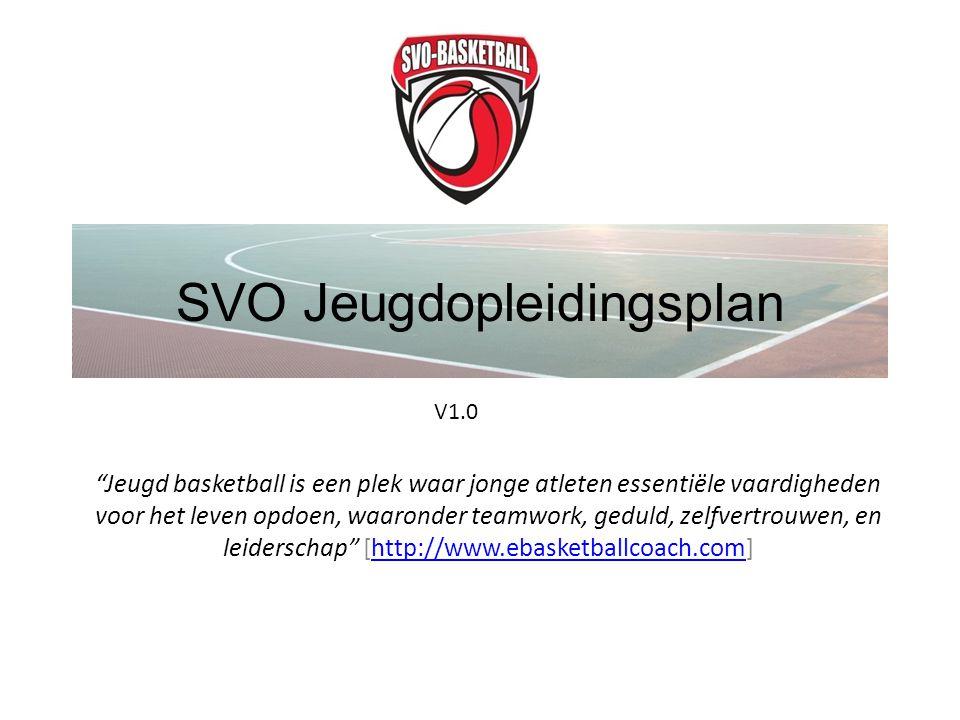 """SVO Jeugdopleidingsplan """"Jeugd basketball is een plek waar jonge atleten essentiële vaardigheden voor het leven opdoen, waaronder teamwork, geduld, ze"""