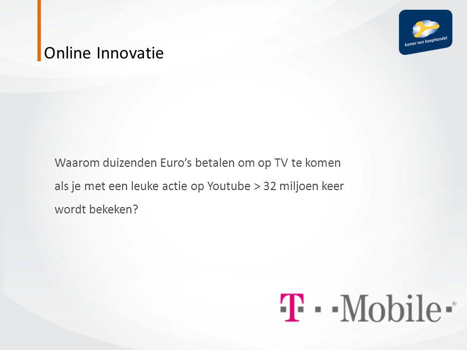 Waarom duizenden Euro's betalen om op TV te komen als je met een leuke actie op Youtube > 32 miljoen keer wordt bekeken?