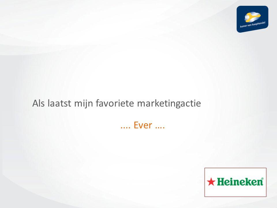 Als laatst mijn favoriete marketingactie.... Ever ….