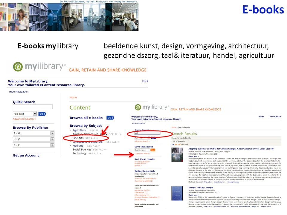 E-books myilibrarybeeldende kunst, design, vormgeving, architectuur, gezondheidszorg, taal&literatuur, handel, agricultuur E-books