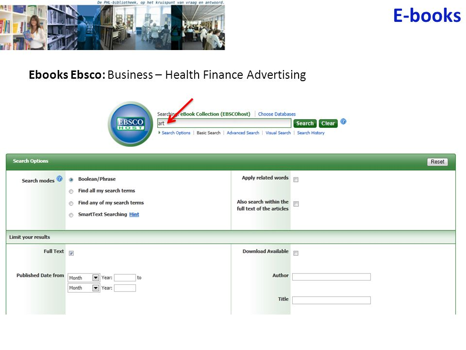 Ebooks Ebsco: Business – Health Finance Advertising