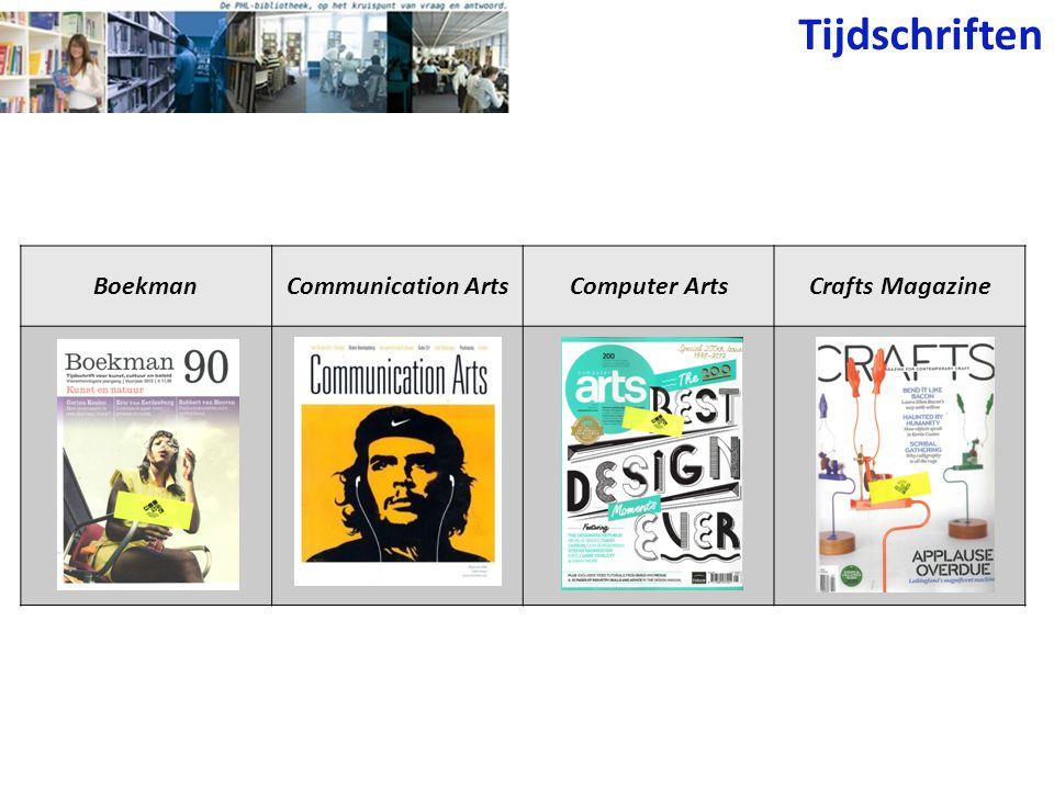Tijdschriften BoekmanCommunication ArtsComputer ArtsCrafts Magazine