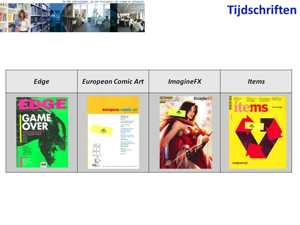 Tijdschriften EdgeEuropean Comic ArtImagineFXItems
