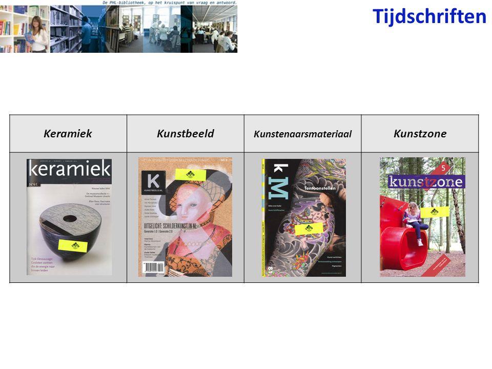 Tijdschriften KeramiekKunstbeeld Kunstenaarsmateriaal Kunstzone