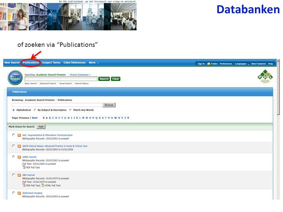 Science Direct • Wetenschappelijke tijdschriften (Elsevier) met inhoudstafel, abstracts en/of full text.