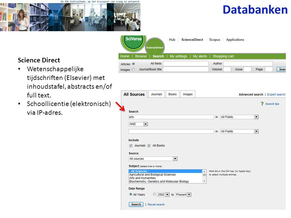 EndNote en Reference Manager • Bijhouden van een database van referenties • Downloaden van referenties vanuit andere databases.