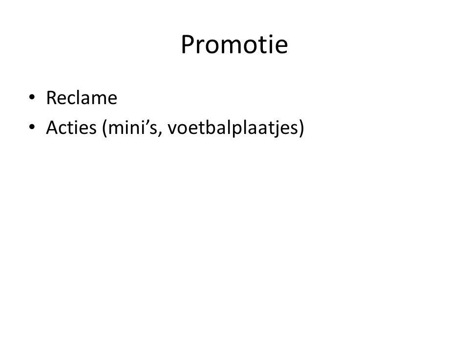 Promotie • Reclame • Acties (mini's, voetbalplaatjes)