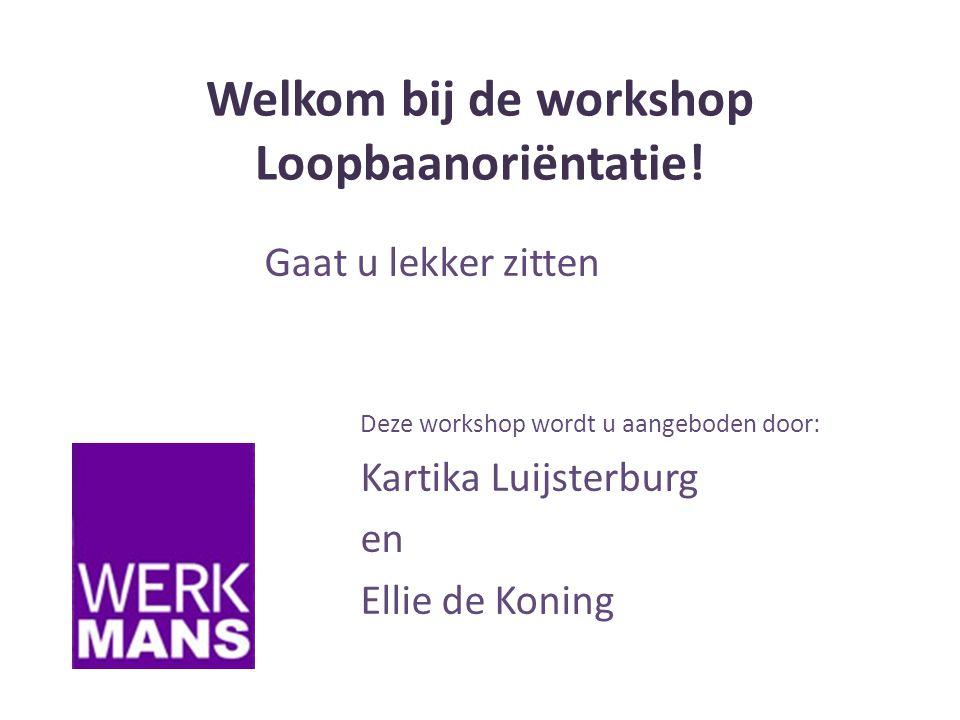 Welkom bij de workshop Loopbaanoriëntatie.