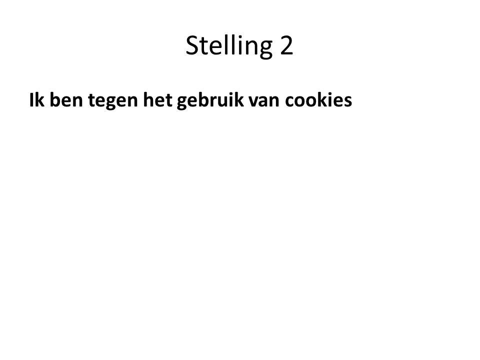 Stelling 2 Ik ben tegen het gebruik van cookies