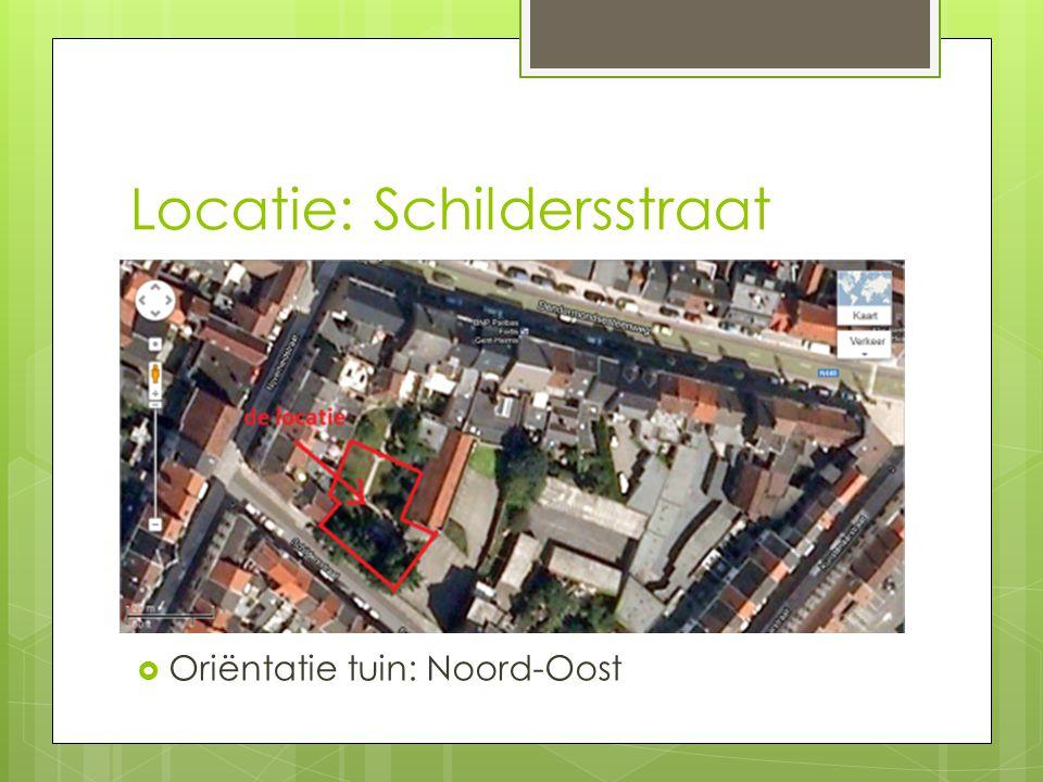 Locatie: Schildersstraat  Oriëntatie tuin: Noord-Oost