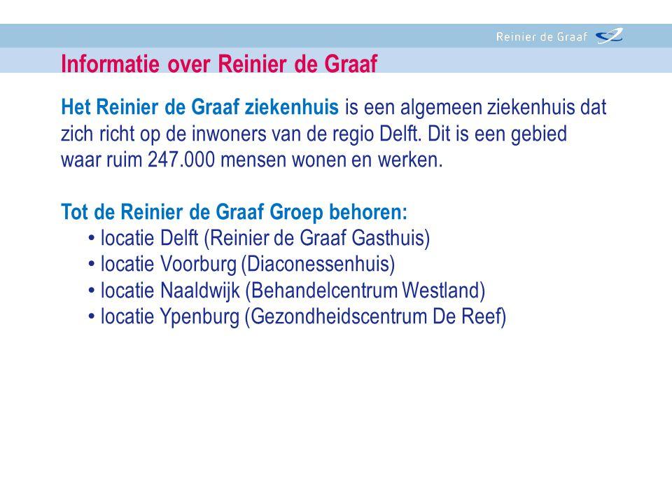 Het Reinier de Graaf ziekenhuis is een algemeen ziekenhuis dat zich richt op de inwoners van de regio Delft. Dit is een gebied waar ruim 247.000 mense