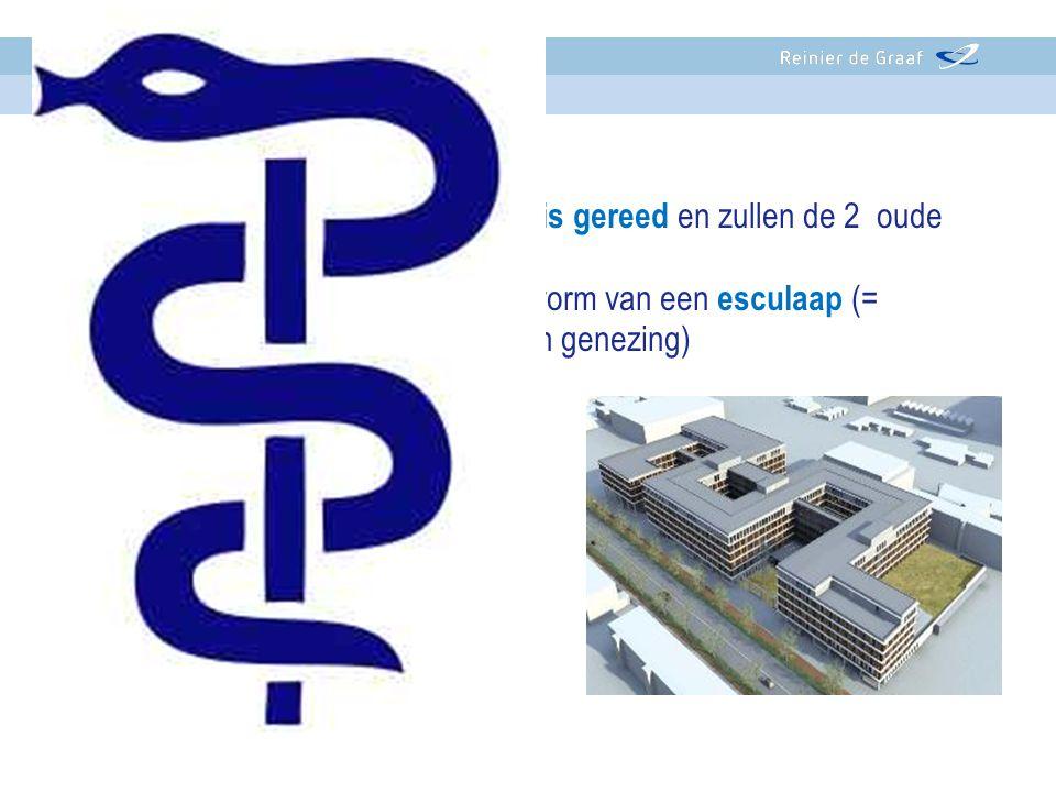 - In 2015 is het nieuwe ziekenhuis gereed en zullen de 2 oude gebouwen afgebroken worden. -Het nieuwe ziekenhuis heeft de vorm van een esculaap (= sym